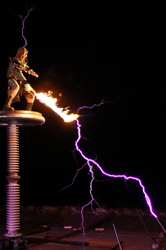 SkyFire Arts - A fire dance and lightning performance company